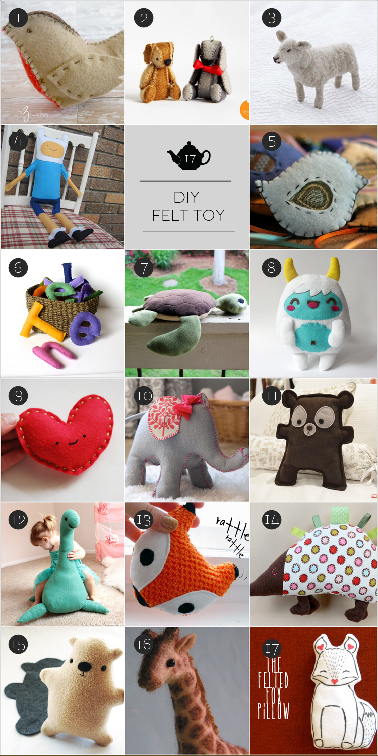 February Craft: soft toy con il feltro