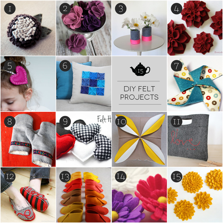 February Craft: diy accessori con il feltro
