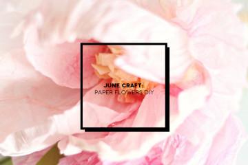 June Craft: realizzare fiori di carta | Inspire We Trust