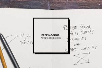 12 Free sketchbook mockup