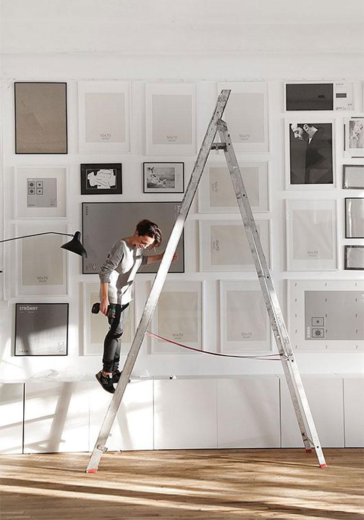 Come arredare le pareti con i quadri inspire we trust for Appendere quadri ikea