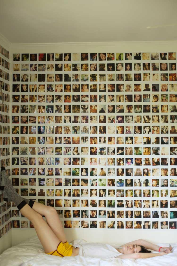 come arredare le pareti solo con le foto
