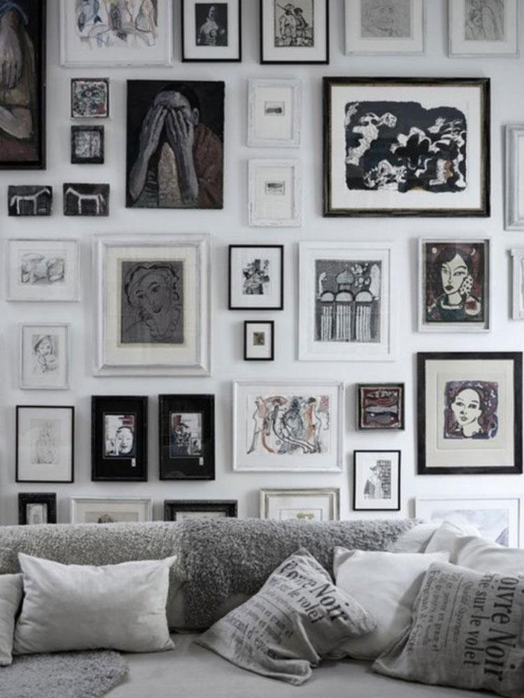Come arredare le pareti con i quadri inspire we trust for Quadri per pareti