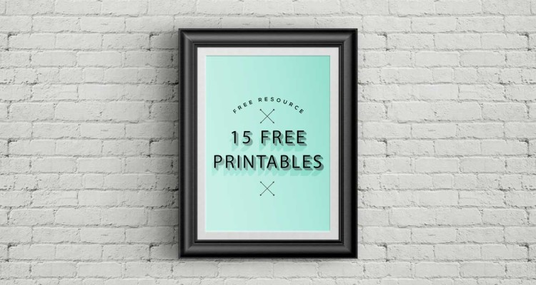 15 free Printables per la tua casa