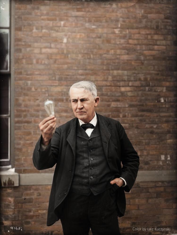 Colorized History - Thomas Alva Edison